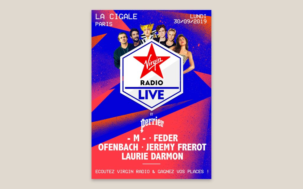 VIRGIN RADIO LIVE BY PERRIER AFFICHE