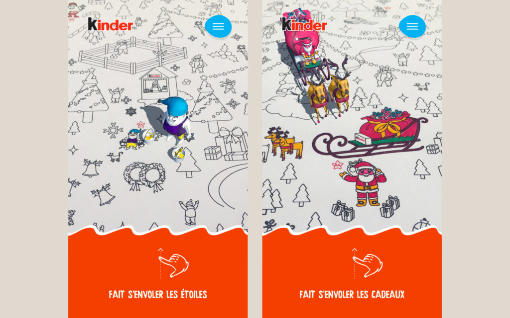 APPLICATION RÉALITÉ AUGMENTÉE KINDER ART